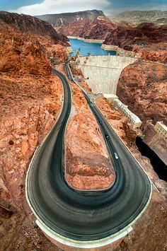 Hoover Dam - Nevada-Arizona - Colorado River - bridge that crosses the Colorado
