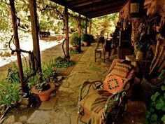 Beautiful porch from  the old moss woman's secret garden