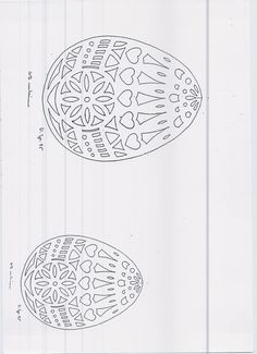 DIY: Easter eggs. Free Paper craft; stencil/template/pattern.