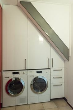 Stacked Washer Dryer, Washer And Dryer, Washing Machine, Kitchen Design, Laundry, Home Appliances, Modern, Laundry Room, House Appliances