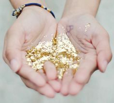 43 Awesome DIY Glitter Crafts - I'm liking the little glitter magnets and glitter coasters, sequin ring,