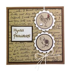 Ihana Vintage-henkinen pääsiäiskortti. Tarvikkeet ja ideat Sinellistä!