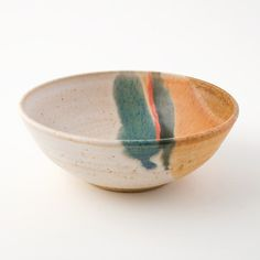 Stoneware Ice Cream Bowl - White by Robert Blue (Blue Eagle Pottery).