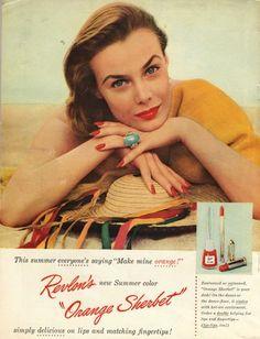 Vintage ad for Revlon cosmetics