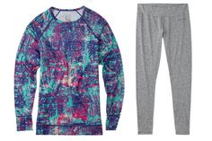 Burton This ski-inspired brand Burton not only sells rad snowboards but also stylish winter wear including base layers that make perfect thermal underwear for women.