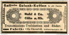Original-Werbung/ Anzeige 1905 :  GALL'SCHE GELENKKETTEN / NOHL & CO. KÖLN - ca. 150 x 75 mm