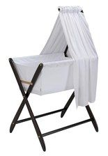 Cariboo Bassinet // Ours is w/out veil // Lifesaver for living in a studio // H used until 6m