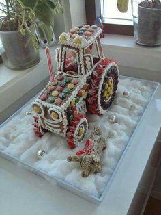 Gingerbread tractor
