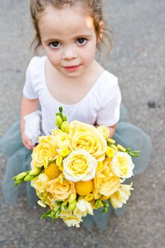 a little flower girl with a big, big bouquet Photography by http://heatherscharfphotography.com, Floral Design by http://blossomsbylisa.wordpress.com/about