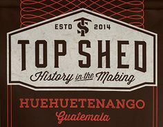 """Check out new work on my @Behance portfolio: """"Top Shed: Labels for bags of roasted coffee"""" http://on.be.net/1IW6DY7"""
