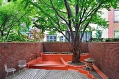 Chill back yard space in the West Village, NYC