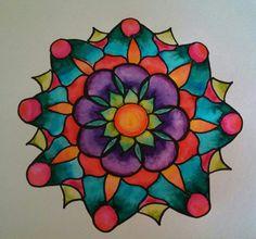Watercolor mandala by Jen Marsh
