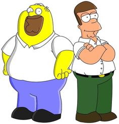 Homero es un Griffin y Peter es un Simpson