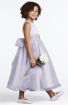 Us Angels Beaded Satin Sleeveless Dress (Little Girls & Big Girls) | Nordstrom