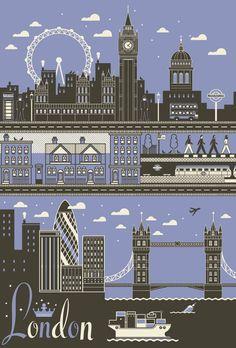 London illustration by I Love Dust