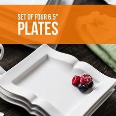 """Set of four 6.5"""" plates shaped like books"""