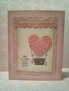 Love the vintage take on a hot air balloon valentine