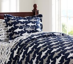 Preppy Shark Duvet Cover | Pottery Barn Kids