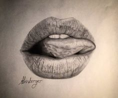 Lips drawing by almberger