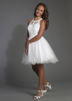 Party Line | K.3028Party Line Confirmation Dresses, Girls Dresses, Flower Girl Dresses, Graduation Dresses, Girl Style, White Dress, Wedding Dresses, Outfit, Party