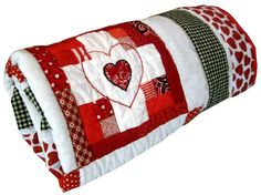 Patchwork Log Cabin Lap Quilt or Throw Red by cherishedcabinquilts, $100.00 #valentine #decor #quilt #onfireteam #lacwe