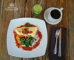 Omelete de pulpo con chorizo de Restaurante Hacienda Guadalupe