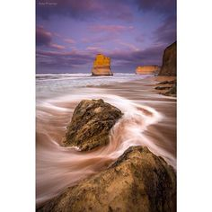 . Taken last Friday morning at Gibson Steps just east of the 12 Apostles. There are actually two of these rock stacks called Gog and Magog. We got down to the beach in the dark before sunrise and walked along the base of the huge cliffs. Knowing the tide was coming in we didn't want to go to far around the beach as the larger waves were starting to come right up and hitting the cliff. There was a couple of times the waves came right up and we needed to jump up on some big boulders to avoid…