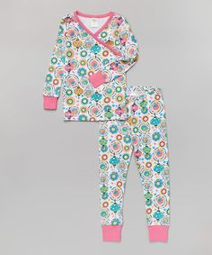 Green & Pink Lantern Organic Pajama Set - Toddler & Girls #zulily #zulilyfinds
