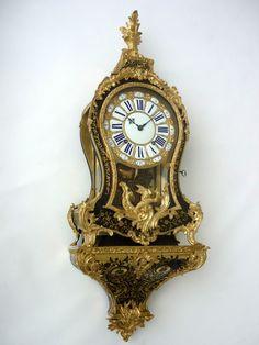 Originale Louis XV BOULLE UHR mit Konsole clock cartel pendule