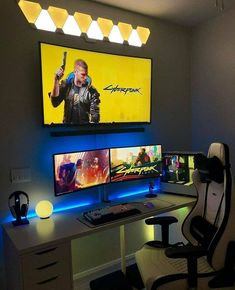 8 Amazing DIY Gaming Computer Desk Ideas As a computer gamer, you need the right desk! Learn the steps to build an industrial style DIY Computer Gaming Desk for optimal gaming performance. Best Computer Chairs, Computer Gaming Room, Gaming Desk Setup, Best Gaming Setup, Gaming Pcs, Computer Setup, Cool Gaming Setups, Gaming Rooms, Pc Setup