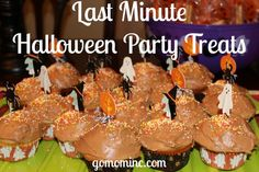 Because sometimes its the spur of the moment gatherings that are the best ~ Last Minute Halloween Party Treats | gomominc.com