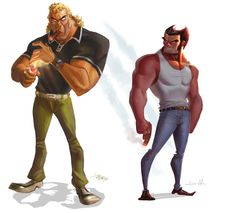 This Collab of Badassery was brought to us by two artists named Daniel Araya and Enrique Rivera. The picture is of X-Men's Wolverine and Venture Bros. Brock Samson standing back to back looking completely badass. I would love to see these two characters team up for some crazy adventure of death!