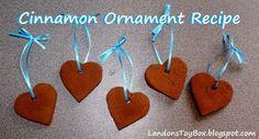 Christmas Traditions - Cinnamon Ornament Recipe
