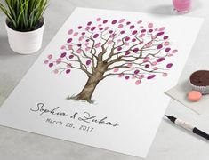 Guest Book Tree - Chic Oak Guestbook Tree print is a beautiful wedding guestbook alternative for wedding guest sign in. Wedding Tree Guest Book, Guest Book Tree, Wedding Book, Wedding Ceremony Script, Our Wedding, Shabby Chic Banners, Guestbook, Wedding Party Games, Wishes For The Bride