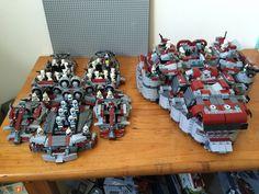 Red dragon MOC! Lego Star Wars clone