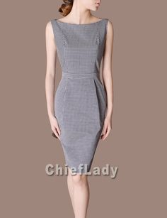 Chieflady Elegant Dress Black and White Office Suited by Chieflady, $135.00