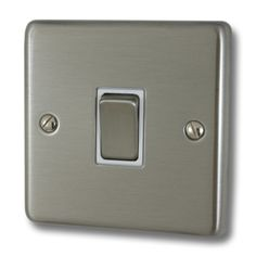 Contour brushed steel light switch £4.41