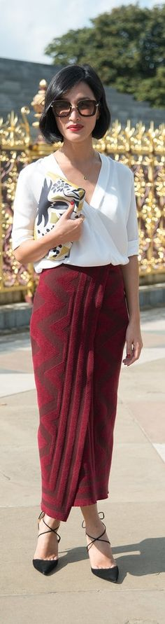 What street style matches your zodiac sign? Virgo: Nicole Warne....YES love This skirt!!