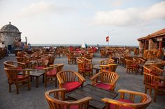 Cafe del Mar: The perfect place to grab a mojito and to watch the sunset. It is located along the old city walls across from La Vitrola. Baluarte de Santo Domingo.