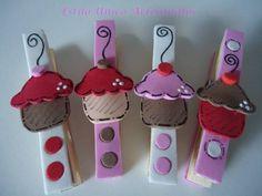 Cupcakes porta-recados ímã de geladeira