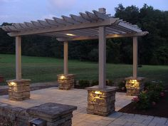 Pergola with lighting