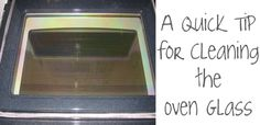 Clean your oven door