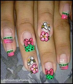 getting nails done Short Nail Designs, Toe Nail Designs, Luv Nails, Pretty Nails, Natural Nail Art, Crazy Nail Art, Magic Nails, Long Acrylic Nails, Spring Nail Art