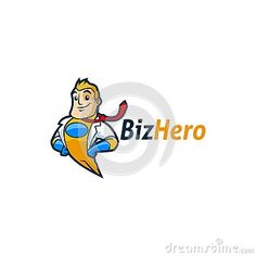 An Unique Flying Superhero Businessman Character suited for any company purpose!