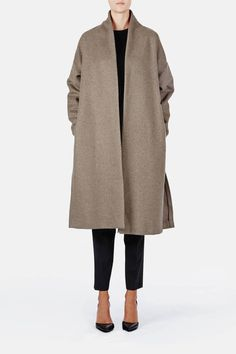 Toteme — Chelsea Coat Greige — THE LINE