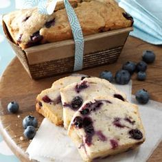 Blueberry Banana Bread Recipe from Taste of Home -- shared by Sandy Flick, Toledo, Ohio  #food_gift