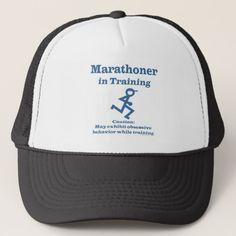 Running Sport Funny Marathon Runner In Training Trucker Hat