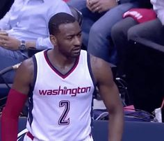 New party member! Tags: basketball nba nba playoffs wizards washington wizards john wall 2017 nba playoffs nbaplayoffs staredown stare down dont mess with me not up in here