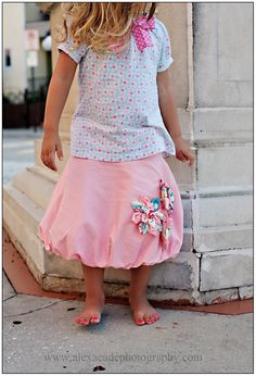 Shabby Chic Pink Bubble Skirt