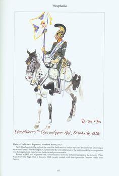 The Confederation of the Rhine - Westphalia: Plate 14. 2nd Lancer Regiment, Standard Bearer, 1812